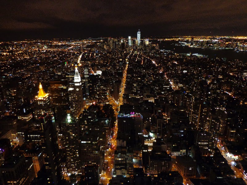image of NYC at night