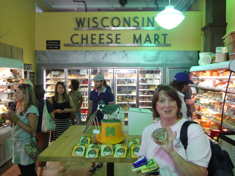 image of B at Wisconsin Cheese Mart