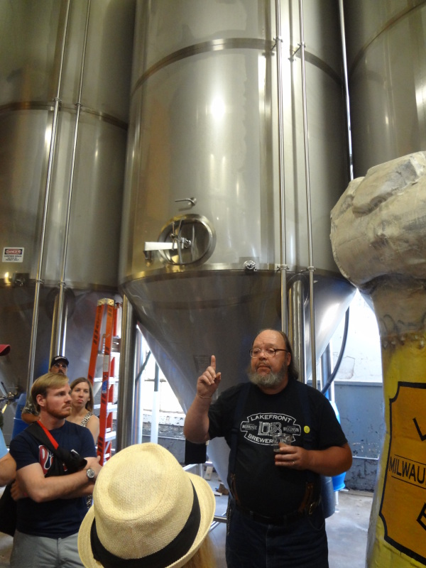 image of tour at Lakefront Brewery