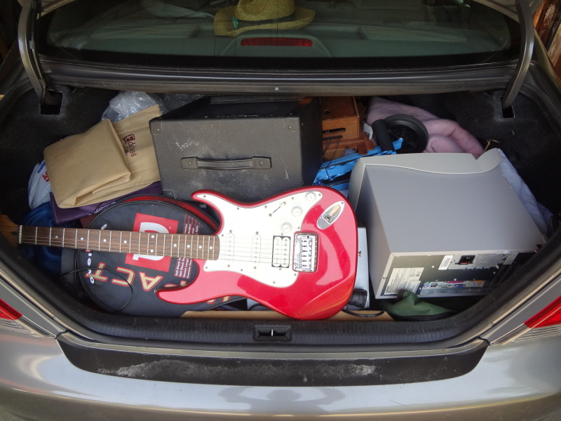 image of trunk full of goodwill donations