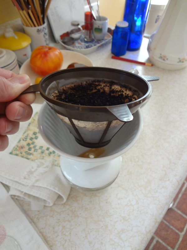 image of a plastic reusable coffee filter