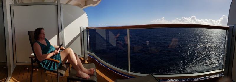 view from our cruise ship stateroom balcony